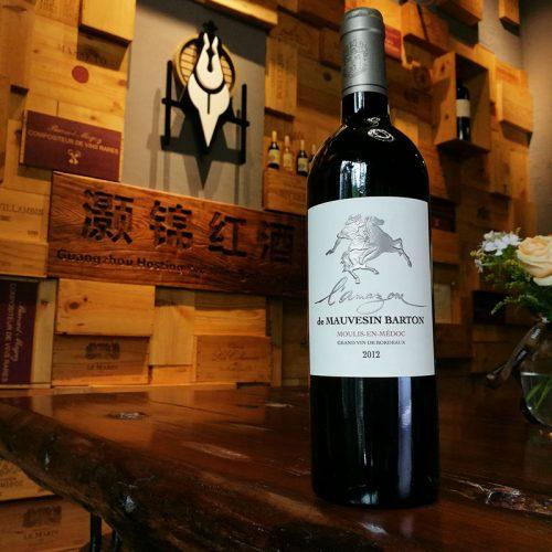 莫桑巴顿骑士干红葡萄酒