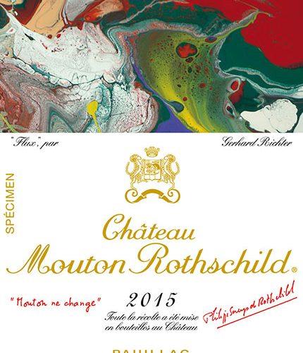 法国木桐酒庄Chateau Mouton Rothschild发布2015年份酒标